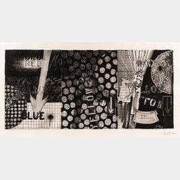 Jasper Johns (American, b. 1930)      Untitled (Red, Yellow, Blue)