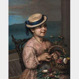 American School, 19th Century      The Flower Seller