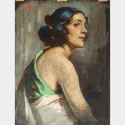 Julius Rolshoven (American, 1858-1930)      Portrait of a Woman