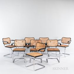 Eight Marcel Breuer (Hungarian/American, 1902-1981) Cesca Armchairs by Stendig
