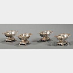 Set of Four George III Silver Open Salts