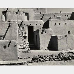 Alma Lavenson (American, 1897-1989)      Taos Pueblo