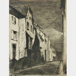 James Abbott McNeill Whistler (American, 1834-1903)      Street at Saverne