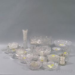 Twenty-nine Assorted Cut Glass Items
