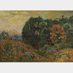 John Joseph Enneking (American, 1841-1916)      Early Fall Landscape