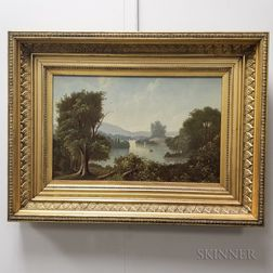 Hudson River School, 19th Century       Riverscape with Boats