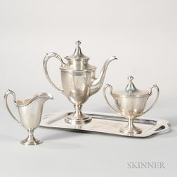 Three-piece Baltimore Silversmiths Co. Sterling Silver Coffee Service