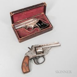 Remington-Elliot Derringer and a Harrington and Richardson Double-action Revolver