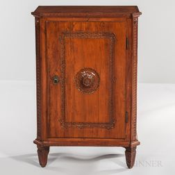 Neoclassical Walnut Side Cabinet