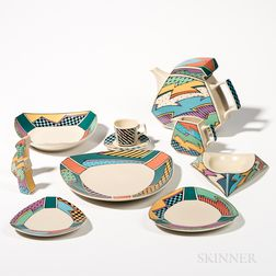 "Dorothy Hafner (American, b. 1952) for Rosenthal ""Flash"" Pattern Dinnerware"