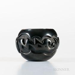 Contemporary Santa Clara Blackware Bowl