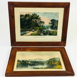 Four Framed Currier & Ives Lithographs
