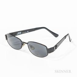 """Pair of Vintage Gianni Versace """"Black Medusa"""" Sunglasses"""