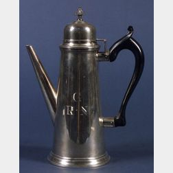 Whiting Sterling Tall Lighthouse Coffeepot and an Associated Covered Cup