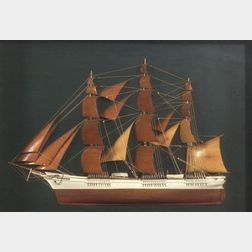 Half Model Diorama of the Clipper Ship Sovereign of the Seas