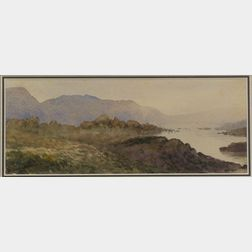 David Young Cameron (Scottish, 1865-1945)    Scottish Hills