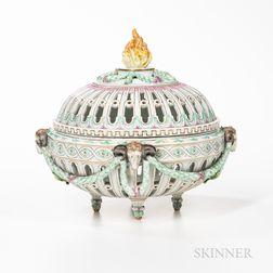 Meissen Porcelain Fruit Bowl and Cover