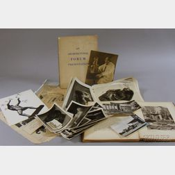 Archive of Sculptor Carl Milles Related Photographs, a Book, and Ephemera