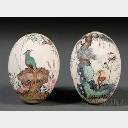 Pair of Handpainted Eggs