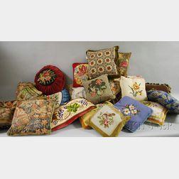 Approximately Twenty-one Decorative Throw Pillows