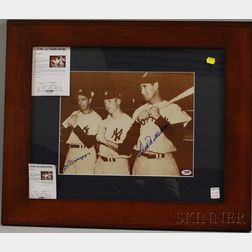 Joe DiMaggio and Ted Williams Autographed Photograph