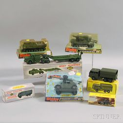 Seven Meccano Dinky Toys Die-cast Metal Military Vehicles