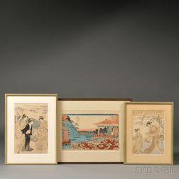 Three Woodblock Prints