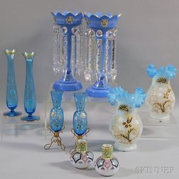 Five Pairs of Blue Glass Objects