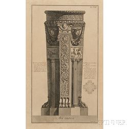 Giovanni Battista Piranesi (Italian, 1720-1778)      Ars antica   (Ancient Altar)