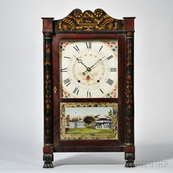 Seth Thomas Stenciled Transition Shelf Clock