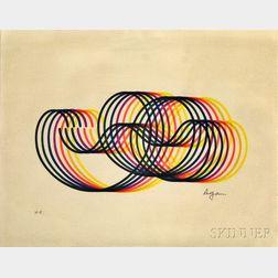 Yaacov Agam (Israeli, b. 1928)      Untitled Abstract