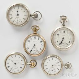 """""""Veritas"""" and Four Other Elgin Watches"""