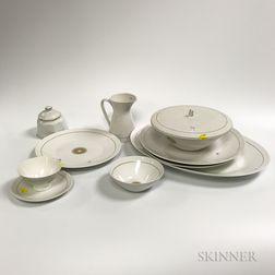 "Rosenthal ""Star of Dawn"" Porcelain Dinner Service for Twelve."