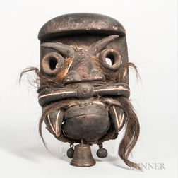 Bete-style Carved Wood Face Mask
