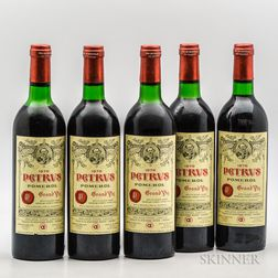 Chateau Petrus 1978, 5 bottles
