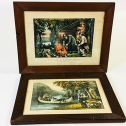 Four Framed Currier & Ives Sporting Lithographs