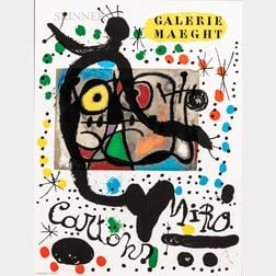 Joan Miró (Spanish, 1893-1983)      Cartons (Exhibition Poster for Galerie Maeght)