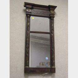 Classical Carved Mahogany Tabernacle Looking Glass.