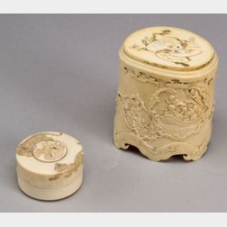 Two Ivory Boxes