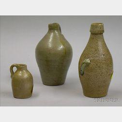 Three Small Salt Glazed Stoneware Items
