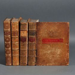 Dictionaries, English/Italian and English/French, Four Volumes, 1750s.