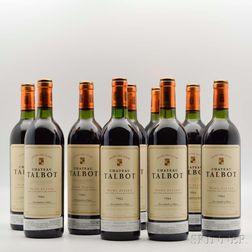 Chateau Talbot, 9 bottles