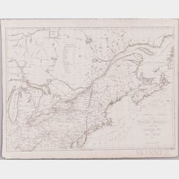North America, East Coast. John Melish (1771-1822) Northern Section of the United States, including Canada & c.