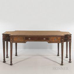 Edwardian Leather-top Mahogany Writing Desk