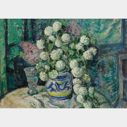 Franz Lex (Austrian, 1895-1959)      Still Life with Hydrangeas