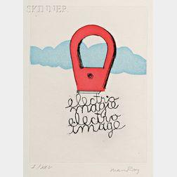 Emmanuel Radensky, called Man Ray, illustrator (French/American, 1890-1976)      Électro-Magie