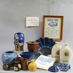 Group of Blue, White, and Brown Dorchester Pottery