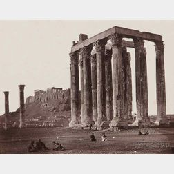 James Robertson (English, 1813-1888)      Temple of Jupiter, Athens