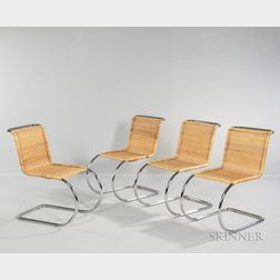 Four Bauhaus-style Chairs