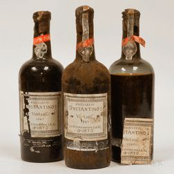 Constaninos Port 1947, 3 1 pint 9 oz bottles